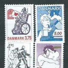 Selos: DINAMARCA - CORREO 1992 YVERT 1042/5 ** MNH. Lote 162941224