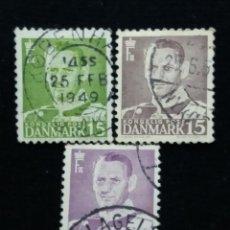 Sellos: 3 SELLO, DINAMARCA ,15, REY FREDERIK IX. AÑO 1948.. Lote 169336248