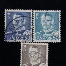 Sellos: 3 SELLO, DINAMARCA ,50, REY FREDERIK IX. AÑO 1959.. Lote 169336496