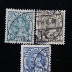 Sellos: 3 SELLO, DINAMARCA ,60-50-75, REY CHRISTIAN X. AÑO 1930.. Lote 169336764