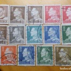 Sellos: 14 SELLOS, DINAMARCA, REY FEDERICO IX, AÑO 1967. . Lote 169338732