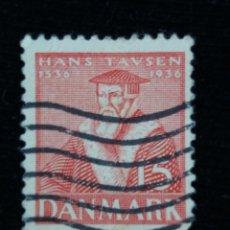 Sellos: SELLO, DINAMARCA, 15, HANS TAUSEN, AÑO 1935.. Lote 169342052