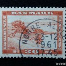 Sellos: SELLO, DINAMARCA, 30 ORE, NATUR, AÑO 1961.. Lote 169343632