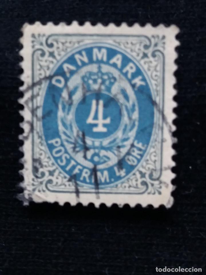 SELLO, DINAMARCA, 4 ORE POSTFRIM, AÑO 1875. (Sellos - Extranjero - Europa - Dinamarca)