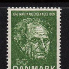 Sellos: DINAMARCA 493** - AÑO 1969 - CENTENARIO DEL NACIMIENTO DEL ESCRITOR MARTIN ANDERSEN. Lote 171120725