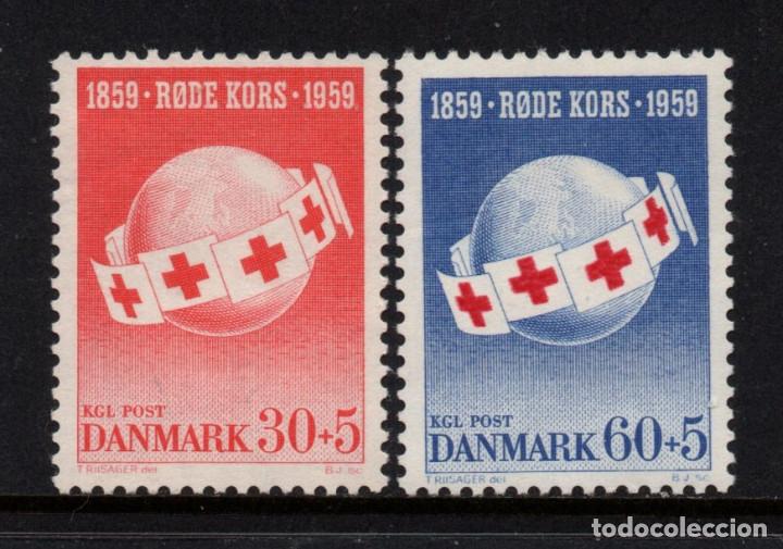 DINAMARCA 383/84** - AÑO 1959 - CENTENARIO DE LA IDEA DE LA CRUZ ROJA (Sellos - Extranjero - Europa - Dinamarca)