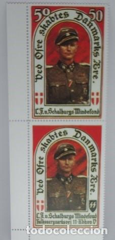 SELLOS PARTIDO NAZI DANES Y SELLOS LEGIÓN DANESA EN HONOR DEL STURMBANNFÜHRER VONSCHALBURG. COPIA (Sellos - Extranjero - Europa - Dinamarca)