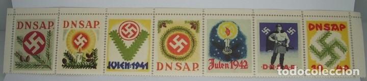 Sellos: Sellos Partido nazi Danes y Sellos Legión Danesa en honor del Sturmbannführer VonSchalburg. COPIA - Foto 3 - 173398600