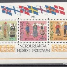 Selos: FEROE, YVERT Nº HB 1 /**/, CULTURA, CASA NÓRDICA; TORSHAVN. Lote 174345920