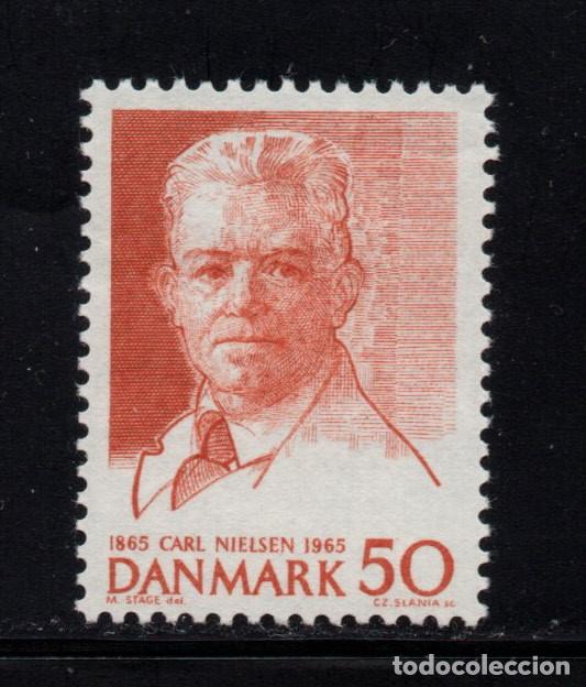 DINAMARCA 440** - AÑO 1965 - MUSICA - CENTENARIO DEL NACIMIENTO DEL COMPOSITOR CARL NIELSEN (Sellos - Extranjero - Europa - Dinamarca)