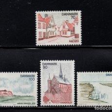Sellos: DINAMARCA 604/07** - AÑO 1975 -REGION DE SCHLESWIG DEL NORTE. Lote 174401744