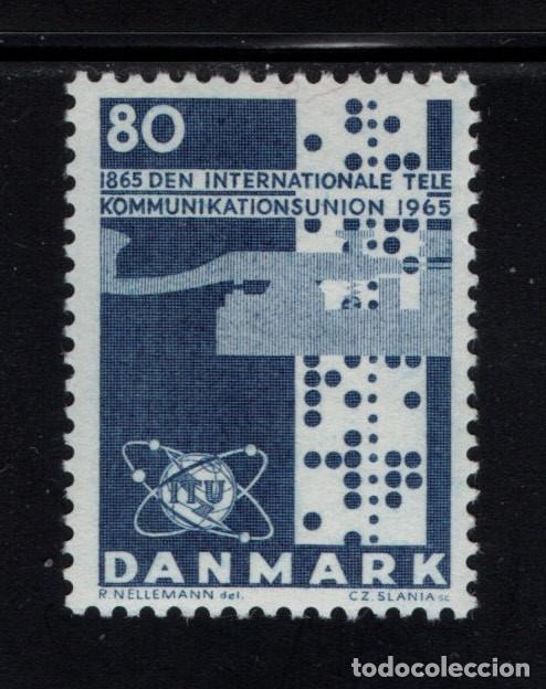 DINAMARCA 439** - AÑO 1965 - CENTENARIO DE LA UNION INTERNACIONAL DE TELECOMUNICACIONES (Sellos - Extranjero - Europa - Dinamarca)