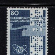 Sellos: DINAMARCA 439** - AÑO 1965 - CENTENARIO DE LA UNION INTERNACIONAL DE TELECOMUNICACIONES. Lote 177592363