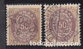 O 28 Y 28A. :1875-1903 (Sellos - Extranjero - Europa - Dinamarca)