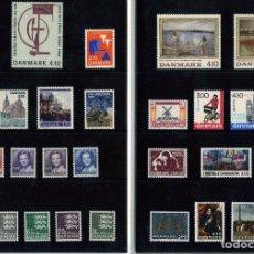 Sellos: CARPETA CON TODOS LOS SELLOS AÑO1988 DE DINAMARCA-SIN FIJASELLOS-GOMA ORIGINAL-VER FOTOS ADICIONALES. Lote 178664432