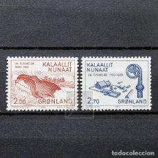 Sellos: GROENLANDIA 1982 ~ MILENARIO DE ASENTAMIENTOS EUROPEOS EN GOENLANDIA (III) ~ SERIE NUEVA MNH LUJO. Lote 178675186