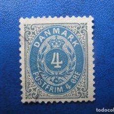 Selos: -DINAMARCA 1875, YVERT 23. Lote 180872945