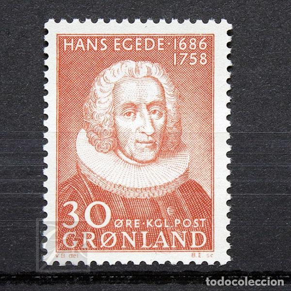 GROENLANDIA 1958 ~ HANS EGEDE ~ SELLO NUEVO MNH LUJO (Sellos - Extranjero - Europa - Dinamarca)