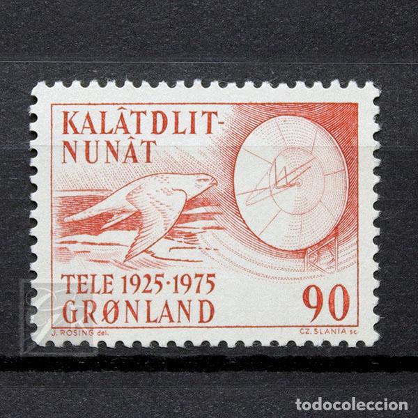 GROENLANDIA 1975 ~ TELECOMUNICACIONES ~ SELLO NUEVO MNH LUJO (Sellos - Extranjero - Europa - Dinamarca)