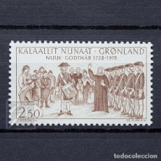 Sellos: GROENLANDIA 1978 ~ ANIVERSARIO DE LA CIUDAD DE GODTHÅBS (NUUK) ~ SELLO NUEVO MNH LUJO. Lote 182607400
