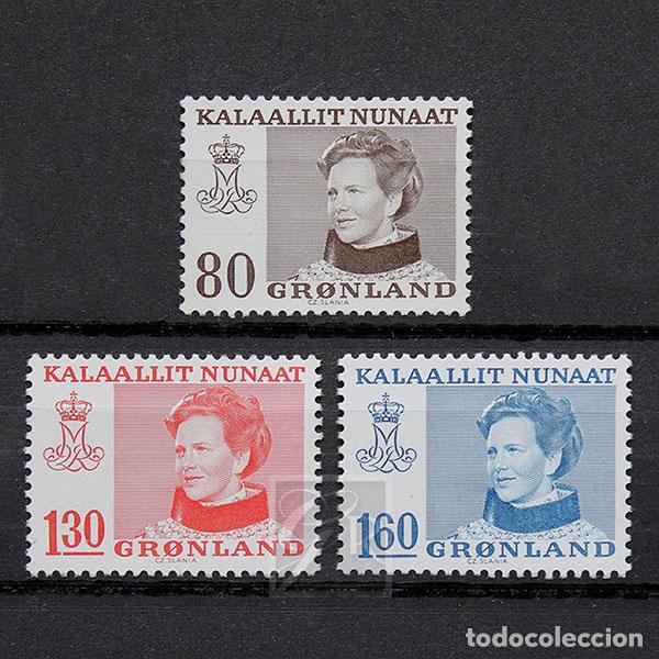 GROENLANDIA 1979 ~ SERIE BÁSICA: REINA MARGARITA II ~ SERIE NUEVA MNH LUJO (Sellos - Extranjero - Europa - Dinamarca)