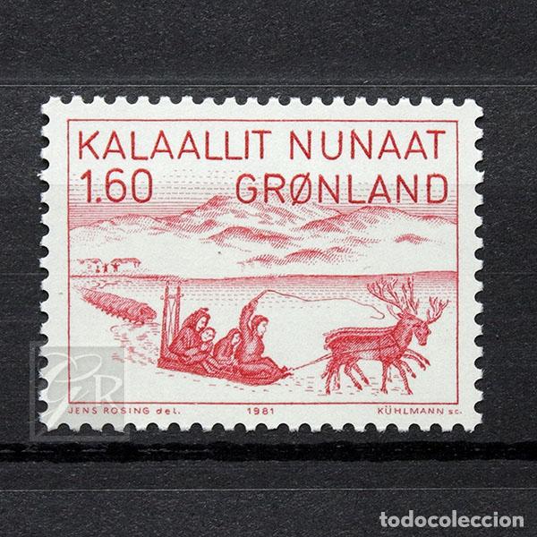 GROENLANDIA 1981 ~ ARTE (II): JENS KREUTZMANN ~ SELLO NUEVO MNH LUJO (Sellos - Extranjero - Europa - Dinamarca)