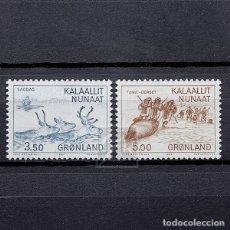 Sellos: GROENLANDIA 1981 ~ MILENARIO DE ASENTAMIENTOS EUROPEOS EN GOENLANDIA (I) ~ SERIE NUEVA MNH LUJO. Lote 182613287