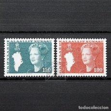 Sellos: GROENLANDIA 1982 ~ SERIE BÁSICA: REINA MARGARITA II ~ SERIE NUEVA MNH LUJO. Lote 182613688