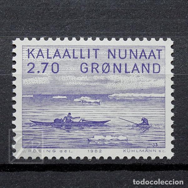 GROENLANDIA 1982 ~ ARTE (III): JACOB DANIELSEN ~ SELLO NUEVO MNH LUJO (Sellos - Extranjero - Europa - Dinamarca)