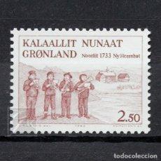 Sellos: GROENLANDIA 1983 ~ ANIVERSARIO DE HERRNHUT ~ SELLO NUEVO MNH LUJO. Lote 182643353