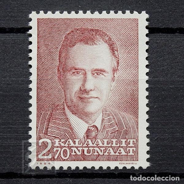 GROENLANDIA 1984 ~ PRÍNCIPE HENRIK ~ SELLO NUEVO MNH LUJO (Sellos - Extranjero - Europa - Dinamarca)