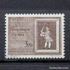 Sellos: GROENLANDIA 1984 ~ ANIVERSARIO DE LA CIUDAD QASIGIANNGUIT ~ SELLO NUEVO MNH LUJO. Lote 182644150