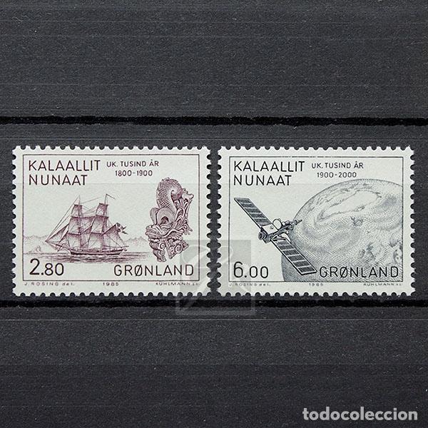GROENLANDIA 1985 ~ MILENARIO DE ASENTAMIENTOS EUROPEOS EN GOENLANDIA (VI) ~ SERIE NUEVA MNH LUJO (Sellos - Extranjero - Europa - Dinamarca)