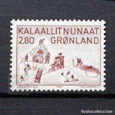 Sellos: GROENLANDIA 1986 ~ ARTE (VII) ~ SELLO NUEVO MNH LUJO. Lote 182646353