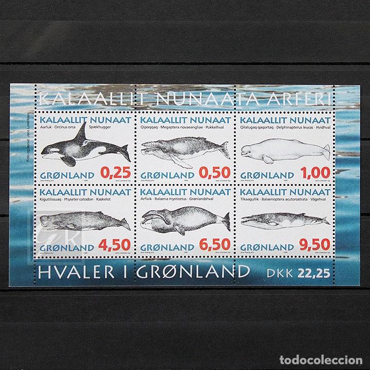 GROENLANDIA 1996 ~ FAUNA: BALLENAS (I) ~ HOJITA NUEVA MNH LUJO (Sellos - Extranjero - Europa - Dinamarca)