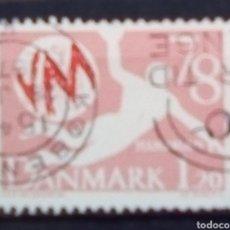 Sellos: DINAMARCA MUNDIAL DE BALONMANO SELLO USADO. Lote 186305431