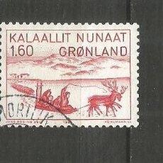 Selos: GROENLANDIA DINAMARCA YVERT NUM. 116 USADO. Lote 189115006