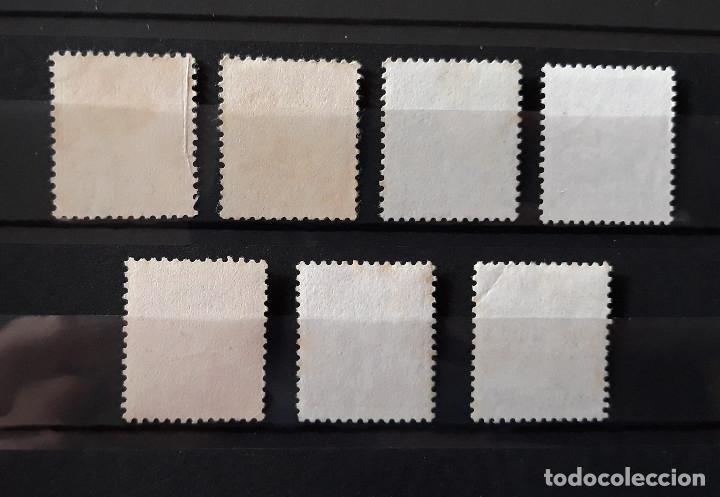 Sellos: DINAMARCA 1942 a 1982 Usado 7 valores Reyes Serie básica Escudo - Foto 2 - 190582758