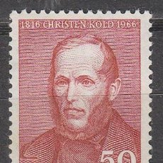 Sellos: DINAMARCA IVERT Nº 448, 150 ANIVERSARIO DEL PEDAGOGO CHRISTEN KOLD, NUEVO CON GOMA INTACTA. Lote 190595717