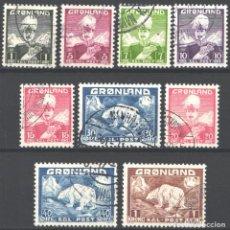 Sellos: GROENLANDIA, 1938-46 YVERT Nº 1 / 9 . Lote 191119418