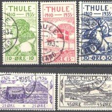Sellos: GROENLANDIA, THULE, 1935-36 YVERT Nº 1 / 5. Lote 191119496