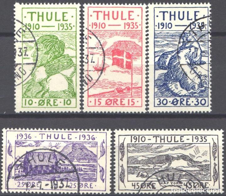 GROENLANDIA, THULE, 1935-36 YVERT Nº 1 / 5 (Sellos - Extranjero - Europa - Dinamarca)