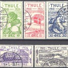 Sellos: GROENLANDIA, THULE, 1935-36 YVERT Nº 1 / 5. Lote 191119507