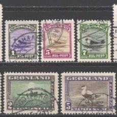 Sellos: GROENLANDIA, 1945 YVERT Nº 10 / 18 . Lote 191119753