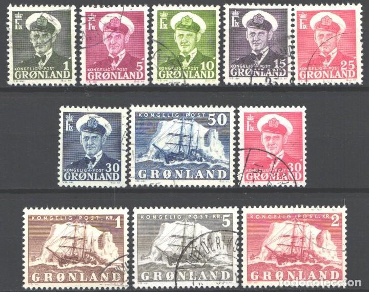 GROENLANDIA, 1950-59 YVERT Nº 19 / 27 (Sellos - Extranjero - Europa - Dinamarca)