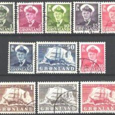 Sellos: GROENLANDIA, 1950-59 YVERT Nº 19 / 27 . Lote 191122271