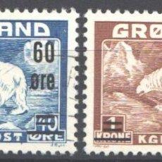Sellos: GROENLANDIA, 1956 YVERT Nº 28 / 29 . Lote 191122348
