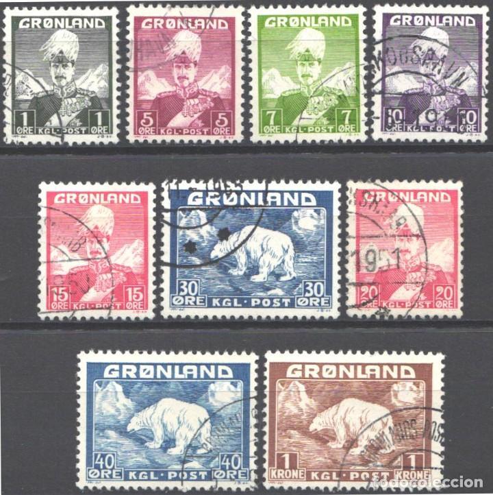 GROENLANDIA, 1938-46 YVERT Nº 1 / 9 (Sellos - Extranjero - Europa - Dinamarca)
