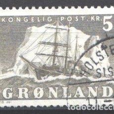 Sellos: GROENLANDIA, 1950-59 YVERT Nº 27, BARCO / VELERO.. Lote 191123230