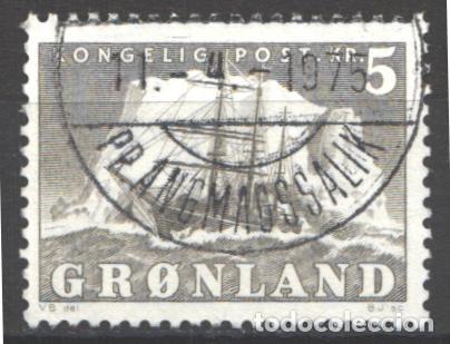 GROENLANDIA, 1950-59 YVERT Nº 27, BARCO / VELERO. (Sellos - Extranjero - Europa - Dinamarca)